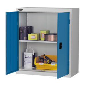 Low Cupboard with Blue Doors H1015 x W915 x D460mm