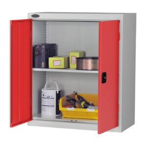 Low Cupboard with Red Doors H1015 x W915 x D460mm