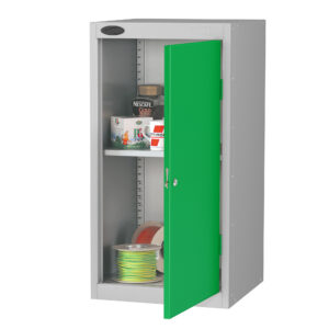 Small Cupboard with Green Doors H890 x W460 x D460mm