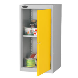 Small Cupboard with Yellow Doors H890 x W460 x D460mm