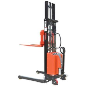0007208 vulcan semi electric straddle stacker with adjustable forks 870