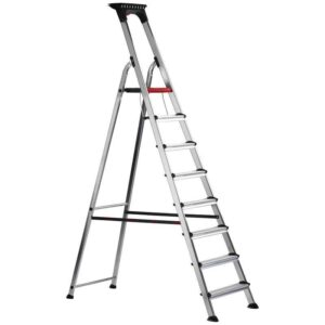 Double Decker Aluminium Stepladder with Tool Tray