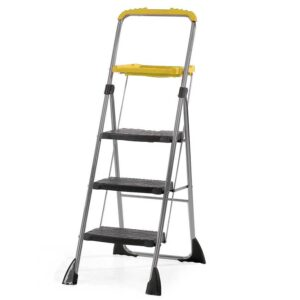 Folding Steps with Yellow Tool Tray