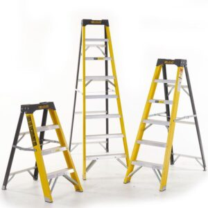 Climb-It Glass Fibre Swingback Stepladders
